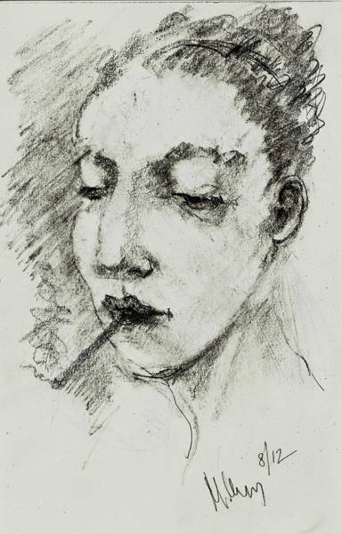 Drawing - Rebecca by Maxim Komissarchik