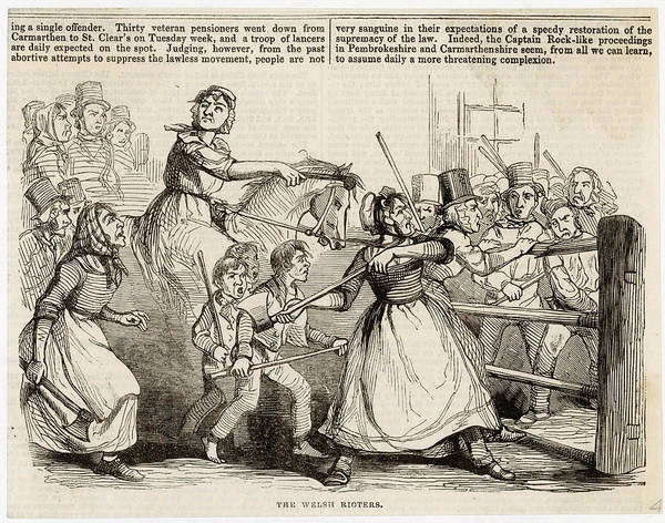 New South Wales Drawing - Rebecca Riots During Which  Toll Gates by  Illustrated London News Ltd/Mar