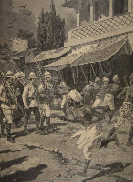 India Drawing - Rebellion In Bombay, Illustration by French School