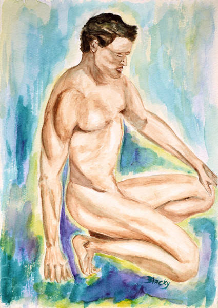 Bodybuilder Painting - Rebirth Of Apollo by Donna Blackhall