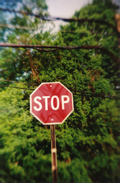 Photograph - Recesky - Stop Sign by Richard Reeve