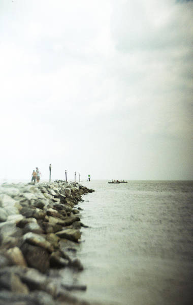 Photograph - Recesky - Walk Along The Breakwater by Richard Reeve