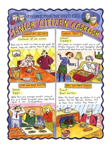 1996 Drawing - Recipes From The Revised Senior Citizen Cookbook by Roz Chast