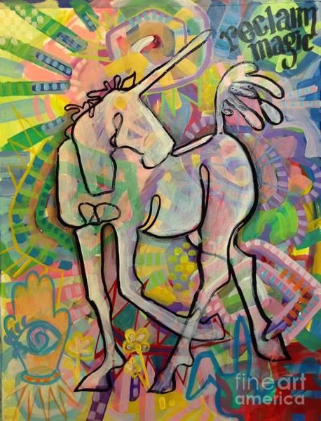 Unicorn Wall Art - Painting - Reclaim Magic by Kimberly Santini