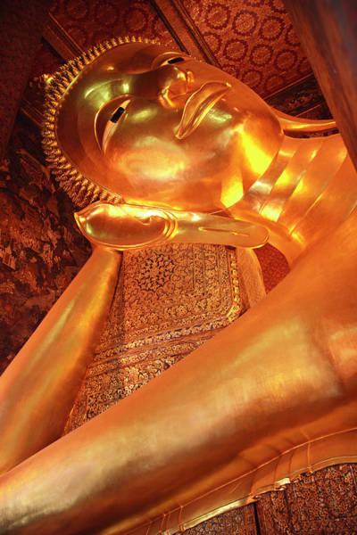 Photograph - Reclining Buddha by Adam Romanowicz