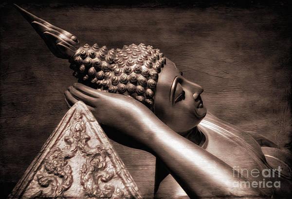Buddhist Temple Wall Art - Photograph - Reclining Buddha by Adrian Evans
