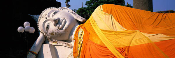 Virtue Photograph - Reclining Buddha Ayudhaya Thailand by Panoramic Images