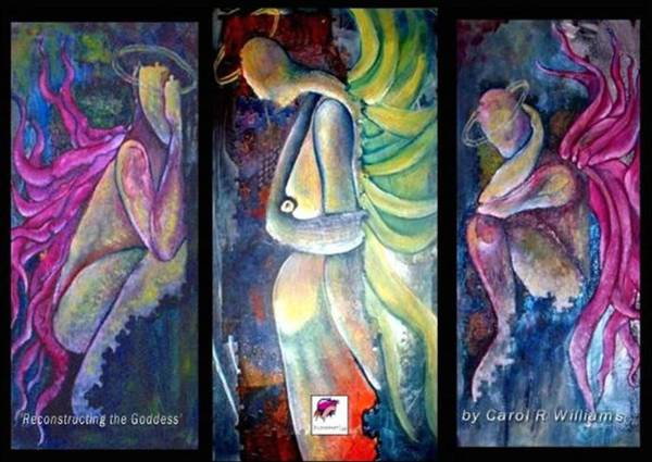 Crone Wall Art - Painting - Reconstructing The Goddess by Carol Rashawnna Williams