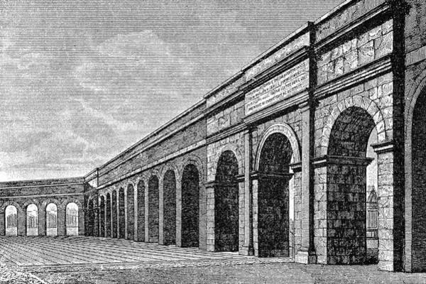Reconstruction Drawing - Reconstruction Of The Aqueduct  Of Aqua by Mary Evans Picture Library