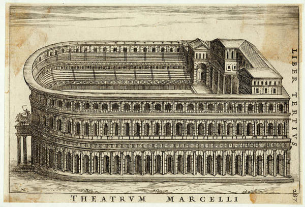 Reconstruction Drawing - Reconstruction Of The Theatre by Mary Evans Picture Library