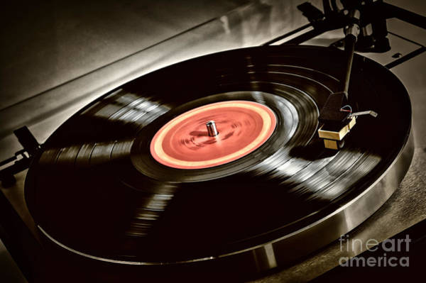 Wall Art - Photograph - Record On Turntable by Elena Elisseeva