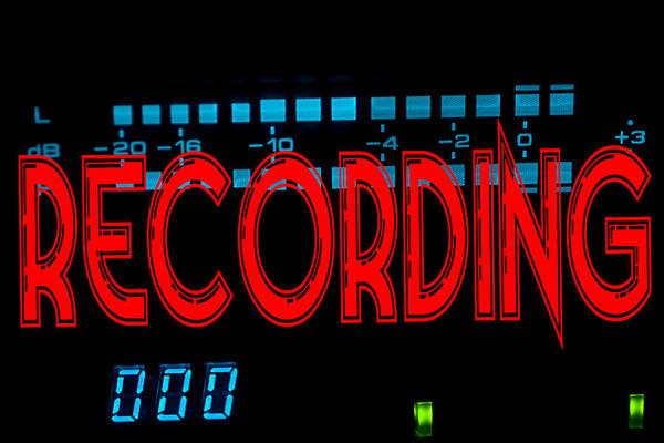 Photograph - Recording Sign by Gunter Nezhoda
