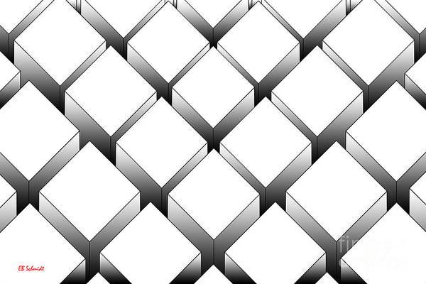 Digital Art - Rectangular Prisms by E B Schmidt