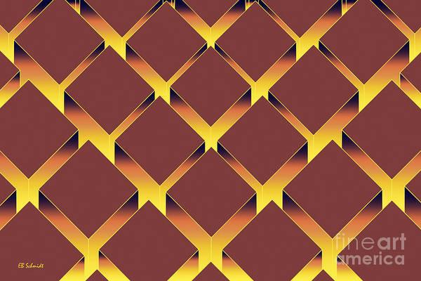 Digital Art - Rectangular Prisms - Glow by E B Schmidt