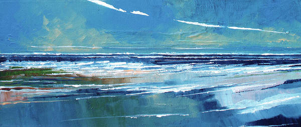 Skyscape Painting - Rectangular Sea View by Stuart Roy