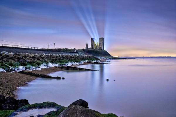St. Marys Photograph - Reculver Towers At Night. by Ian Hufton