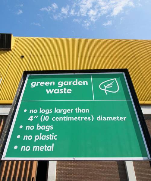 Notice Photograph - Recycling Centre Notice Board by Louise Murray/science Photo Library