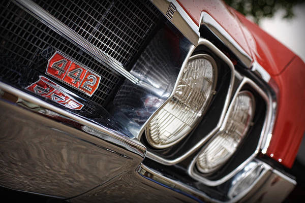 Oldsmobile 442 Wall Art - Photograph - Red 1966 Olds 442  by Gordon Dean II