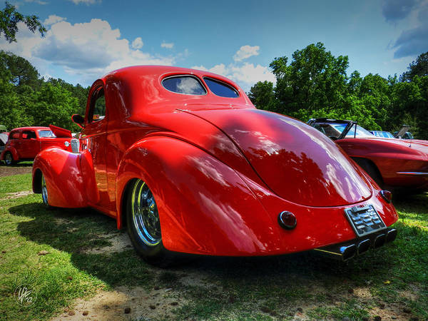 Photograph - Red '41 Willys Coupe 003 by Lance Vaughn