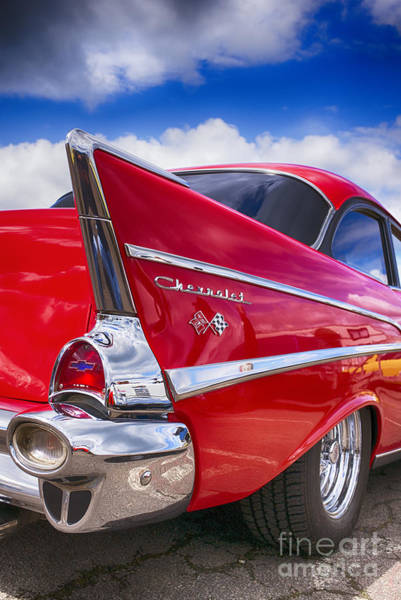 Chevrolet Bel Air Photograph - Red 57 Hdr by Tim Gainey