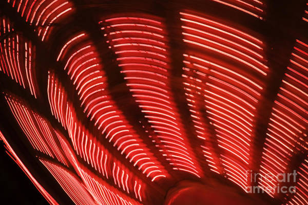 Wall Art - Photograph - Red Abstract Light 15 by Tony Cordoza
