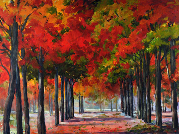 Painting - Red Alley II by Ingrid Dohm