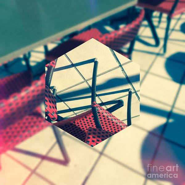 Photograph - Red And Black Checkered Chairs by Beverly Claire Kaiya