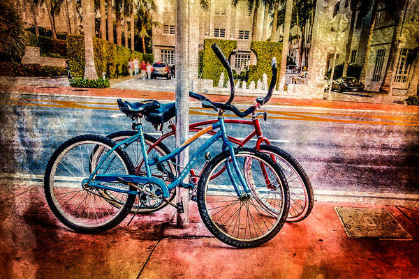 Photograph - Red And Blue Rides by Melinda Ledsome