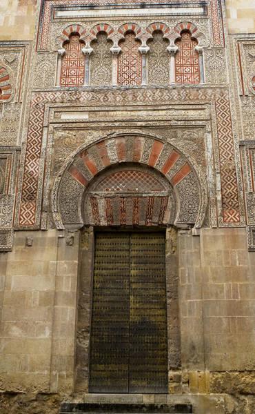 Photograph - Red And Gold Doorway Of The Mezquita by Lorraine Devon Wilke