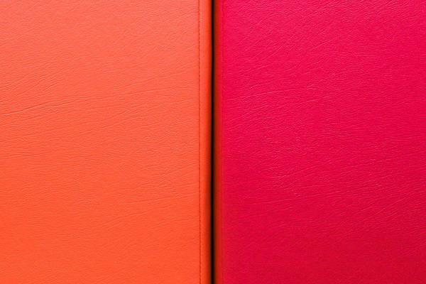 Wallet Wall Art - Photograph - Red And Orange Leather by Tom Gowanlock