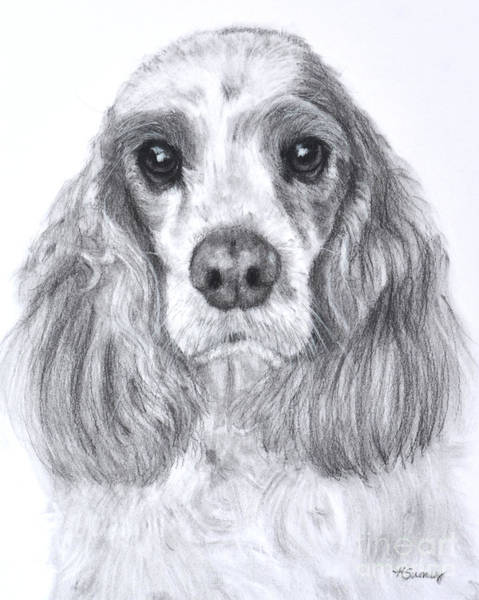 Art Print featuring the painting Red And White Cocker Spaniel by Kate Sumners