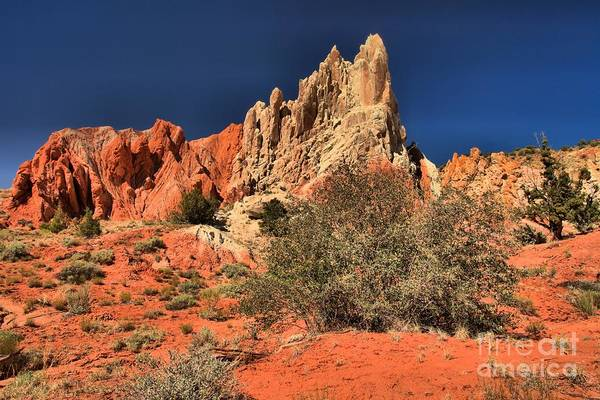 Photograph - Red And White Desert Towers by Adam Jewell