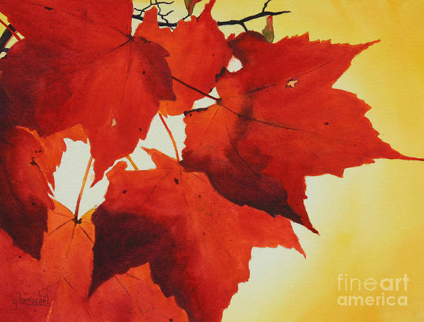 Painting - Red And Yellow by Glenyse Henschel