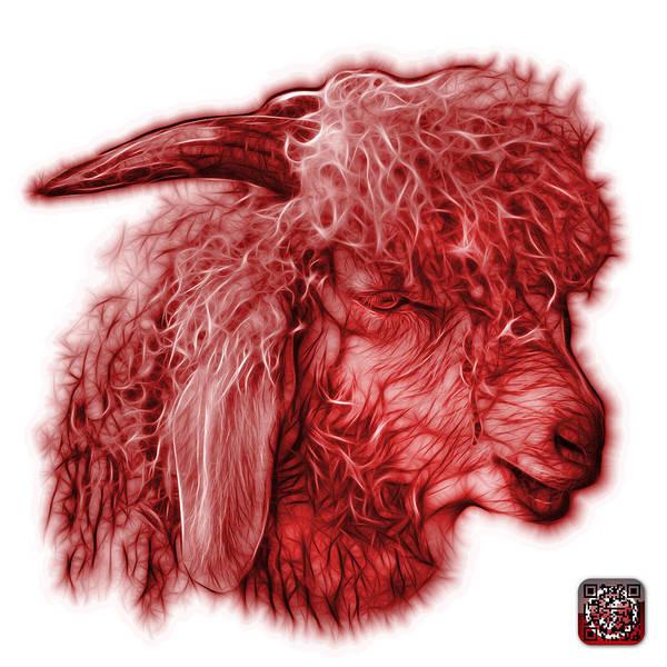 Digital Art - Red Angora Goat - 0073 Fs by James Ahn