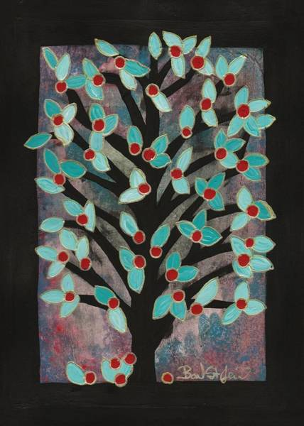 Painting - Red Apple Tree by Barbara St Jean
