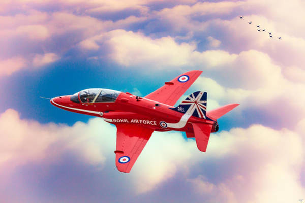 Photograph - Red Arrows Hawk by Chris Lord
