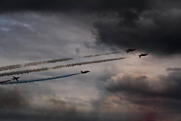 Photograph - Red Arrows - Into The Storm by Scott Lyons