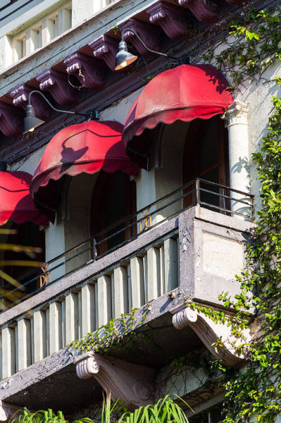 Fisher Center Photograph - Red Awnings At The Van Dyke by Ed Gleichman