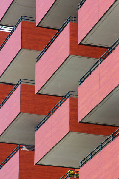 Photograph - Red Balconies by Jannis Werner