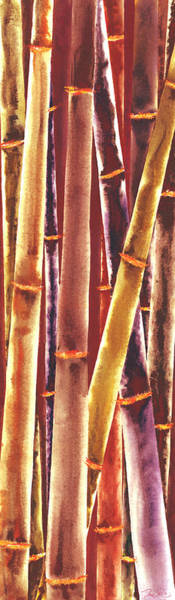 Wall Art - Painting - Red Bamboo by Rosemary Craig