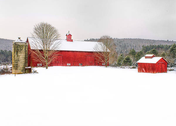 Photograph - Red Barn After The Storm by John Vose