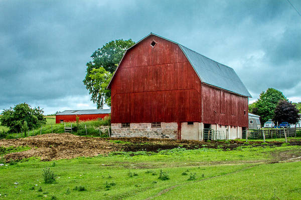 Farmyard Photograph - Red Barn by Bill Gallagher