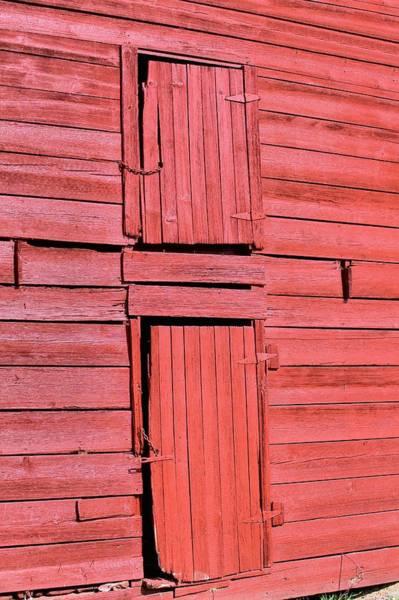 Photograph - Red Barn Doors by Gordon Elwell