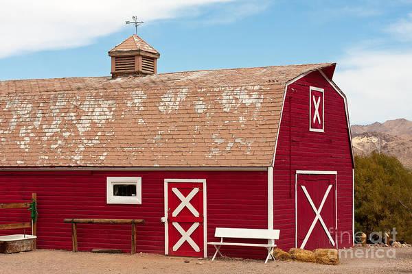 Photograph - Red Barn by Gunter Nezhoda