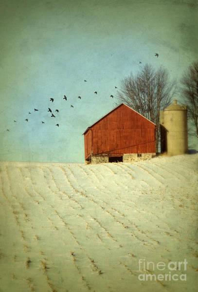 Wall Art - Photograph - Red Barn In Snow by Jill Battaglia