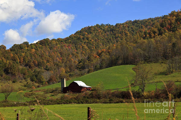 Photograph - Red Barn In The Mountains by Jill Lang