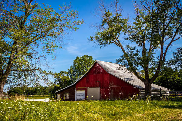 Photograph - Red Barn In The Trees by Ron Pate