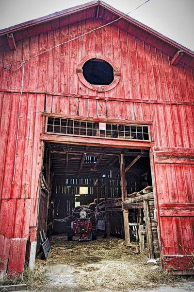 Photograph - Red Barn by Joan Reese