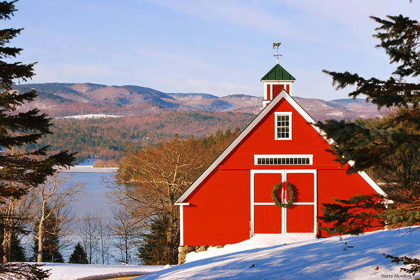 Photograph - Red Barn On Newfound Lake by Harry Moulton