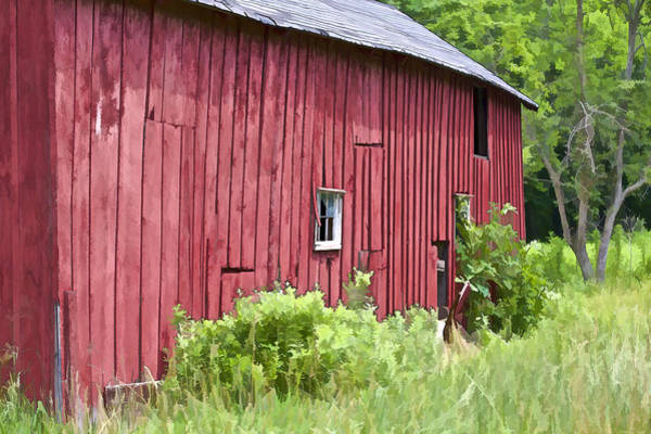 Photograph - Red Barn Side by David Letts